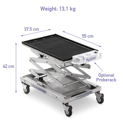 Medical ultrasound scan trolley