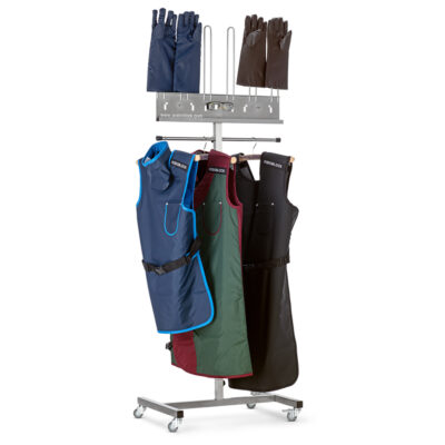 Mobile Rack Apron Gloves