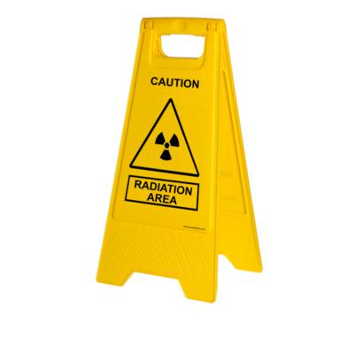 Mobile radiation warning sign